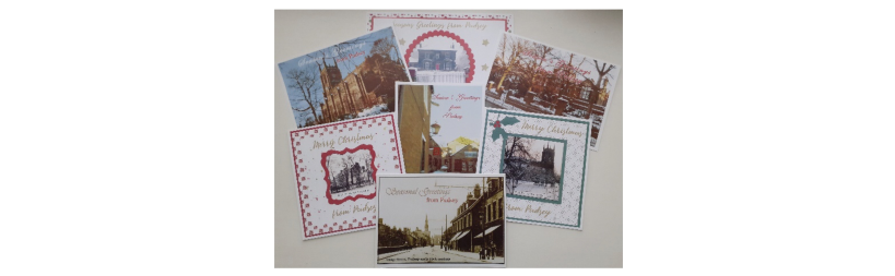 Assorted mix of 6 Christmas cards.
